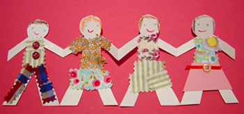 How to Make a Paper Doll Chain | eHow.com